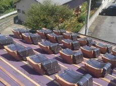 葺き替え工事(セメント瓦から石州瓦)