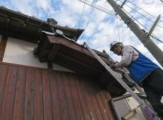 破風板塗装工事(キシラデコール)
