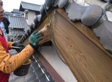 破風板塗装工事(キシラデコール塗装)