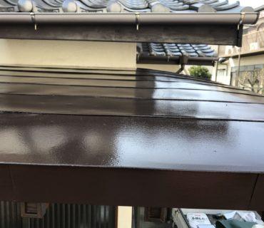 玄関板金塗装工事 施工後