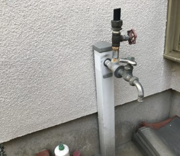 散水栓蛇口新設工事 施工前