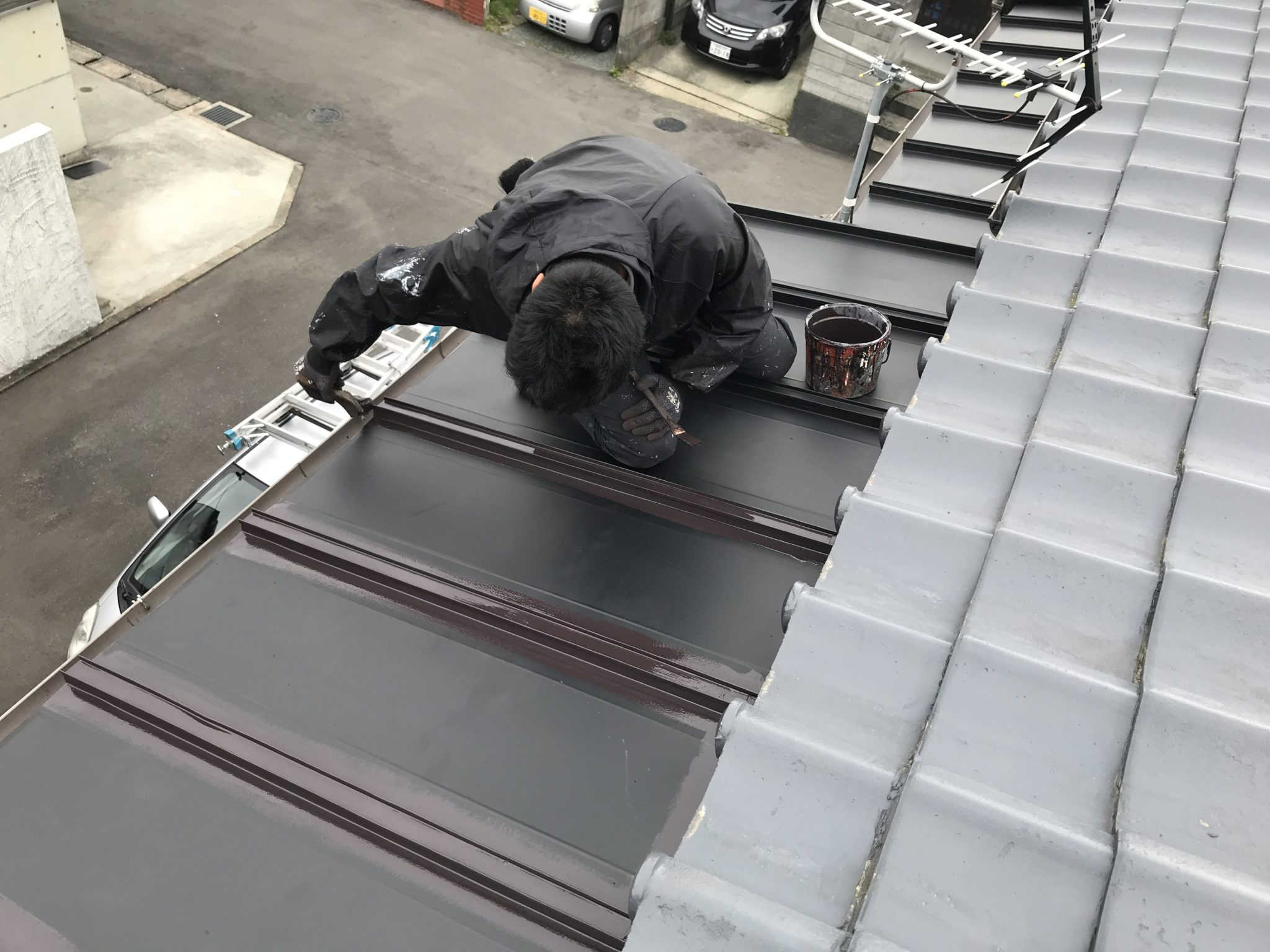 板金塗装工事 工程4