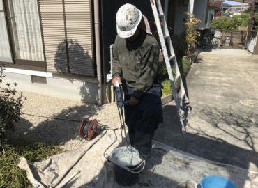 屋根漆喰工事 工程2