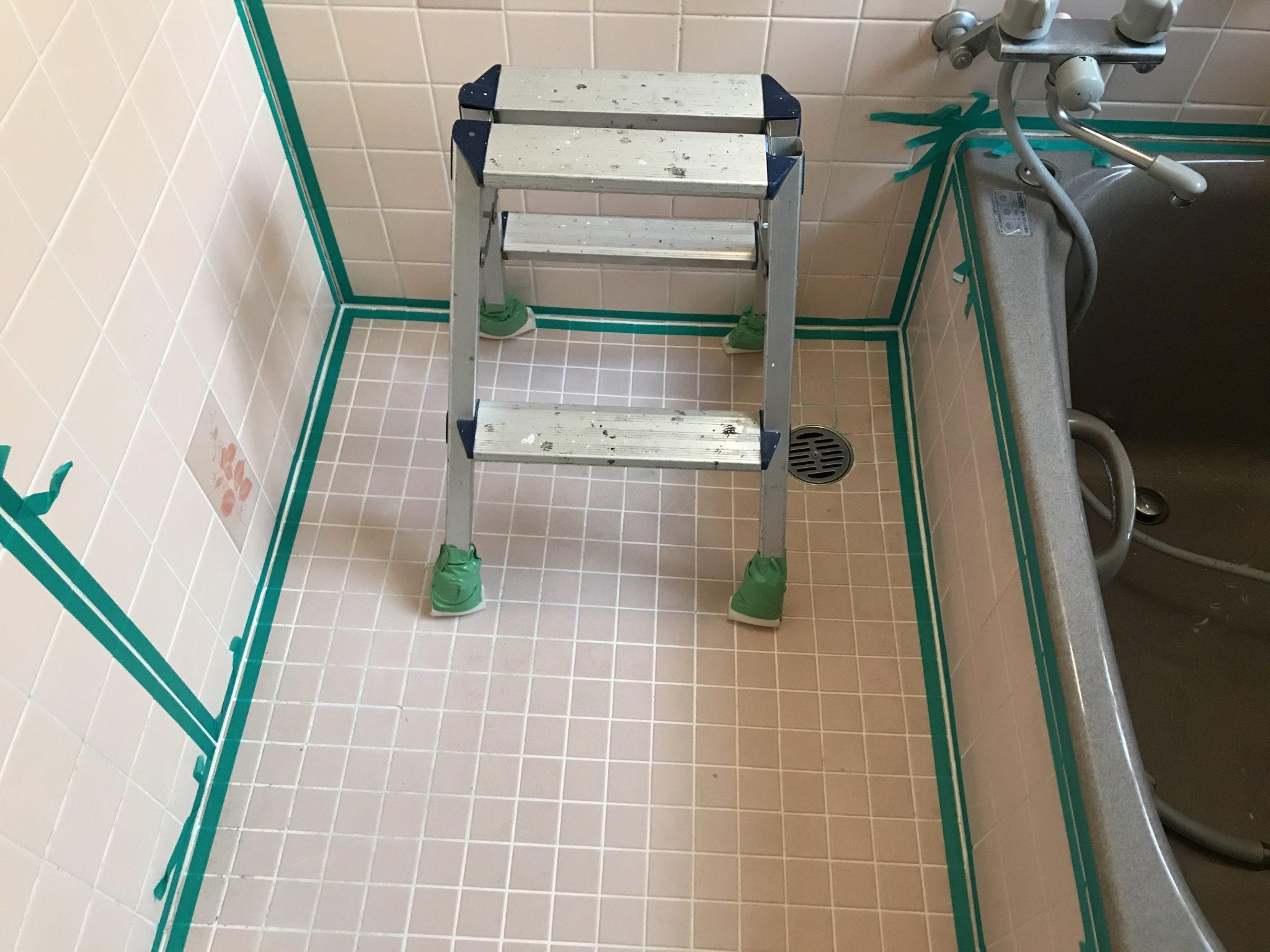 浴室コーキング工事 工程1