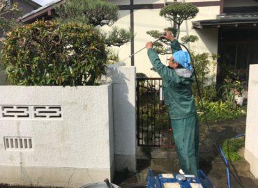 外塀塗装工事 工程1