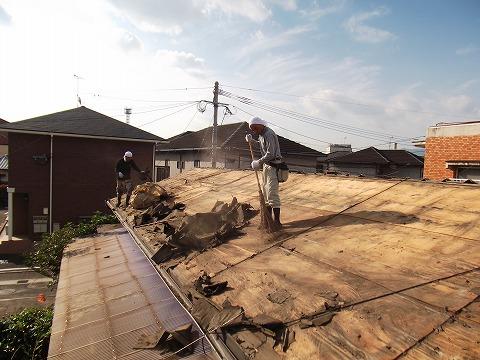 瓦の葺き替え工事 工程