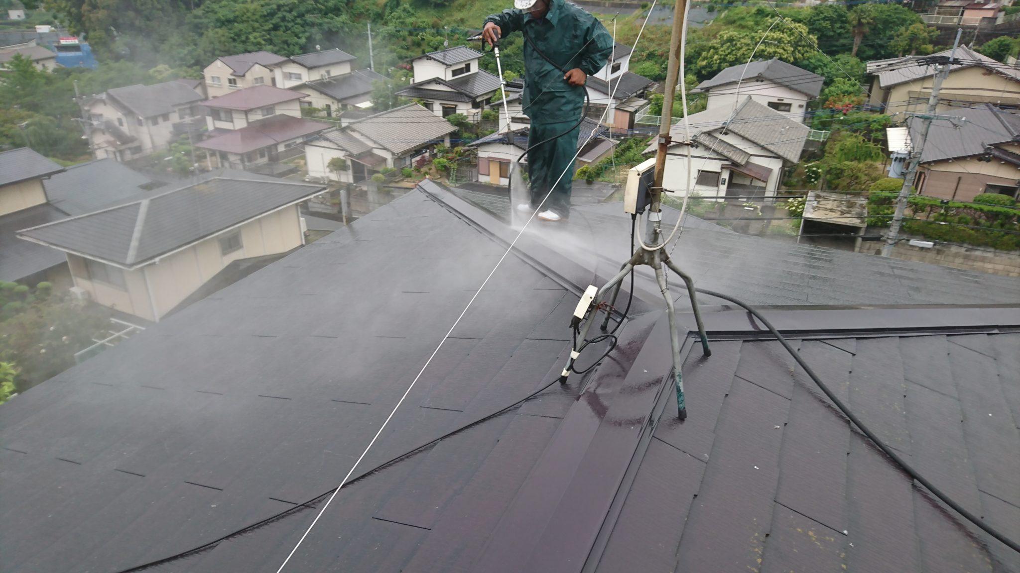 屋根塗装工事 工程1