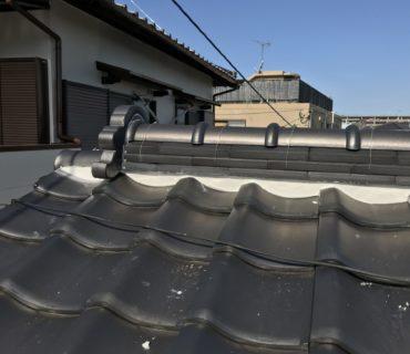 屋根漆喰工事 施工後